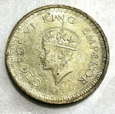 1942 British India Rupee Bombay Mint (With Dot) Original Unc. KM-557 CHN