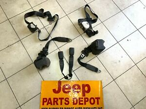 2006 JEEP WRANGLER TJ FRONT AND REAR SEAT BELTS OEM
