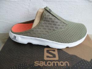 Salomon Clogs Pantoletten Pantolette RX Slide 5.0 oliv grün 412778 NEU