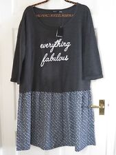 Esmara Plus Size  Grey Casual  2 In 1 Sweatshirt dress   Size 22/24