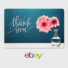 eBay Digital Gift Card - Thank You - Flower -  Email Delivery
