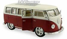 WELLY 1:24 1962 Volkswagen VW BUS LOW RIDER DIE-CAST RED 22095LRW-RD
