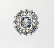 PLATINUM DIAMOND & SAPPHIRE ART DECO PENDANT 2.05 TCW