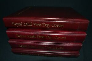 Royal Mail first day cover albums x 4 in good condition all with 20 leaves.