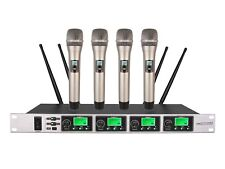 Vocal Microphone System Uhf 2 Channel Pll Handheld Wireless Karaoke mic System