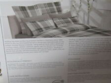 DORMISETTE WULFING QUEEN SIZE DUVET COVER SET GRAY PLAID FLANNEL GERMANY NWT!