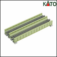 KATO - Double Track Plate Bridge 186 mm - Light Green - Unitrack - 20-456