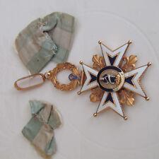 MEDAILLE COMMANDEUR OR ORDRE ESPAGNE CHARLES III SPANISH ORDER MEDAL GOLD