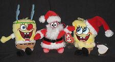 TY 2007 SPONGEBOB CHRISTMAS JINGLE BEANIE SET of 3 - MINT with MINT TAGS