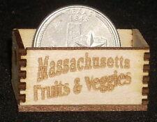 Dollhouse Miniature Massachusetts Fruits & Veggies Crate 1:12 Market Farm Store
