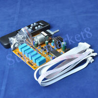 6Way 6Channel Motorized Remote Volume Control Input Selector KIT Audio Amplifier