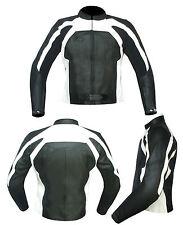 Giacca Moto Per Donna Vera Pelle mod 3158 Nero-Bianco