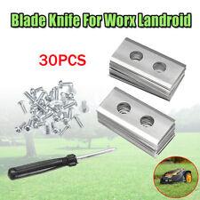 30Pcs 0.9 мм стальной запасное лезвие нож и отвертка для Worx landroid газонокосилки универсальный