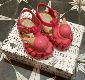 Pink Ice Cream Cone Toddler Baby Girl Shoes Kawaii Sandal Catamini Mini Melissa