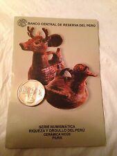 PERUVIAN 1 NUEVO SOL COIN CERAMICA VICUS (PIURA ) SPANISH DESCRIPTION NEW