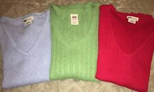 Faded Glory Ribbed Sweater Short Sleeve Lot Of 3 Blue Red Green Size XL Cotton