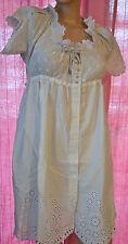 bonito vestido gris claro bordado HIGH USE talla 36 nueva ETIQUETA