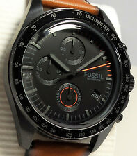 Fossil Sport 54 CH3050 Men's Brown Leather Chronograph Watch $155 NEW