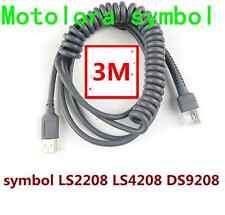3m USB a RJ45 Macho Cable en espiral para Symbol LS2208 LS4208 DS9208 Escáner De Código De Barras