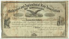MECHANICS' AND AGRICULTURAL FAIR ASSOCIATION, NEW ORLEANS LOUISIANA 1861 STOCK
