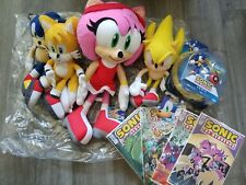 Sonic the hedgehog Plush, Toy, Figure, Lot, Sega, Amy, Tails, Rare,  IDW, Jakks