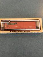 Life-Like Tropicana Orange 50' Box Car Train Car Model 8480 Black HO Scale