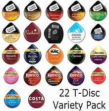 22 Tassimo T- Discs Variety Pack ( Perfect  for Gift or Starter Pack )