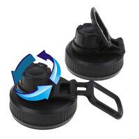 2Pcs Water Bottle Lid Replacement Cap Straw Spout Push Flip Top Lids for Cup_QA