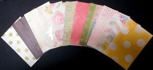 "HOMESPUN - 11 Patterned Scrapbooking/Cardmaking Papers - 15cm x 10cm (6"" x 4"")"