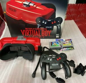 Nintendo Virtual Boy PLUS GAMES ORIGINAL RARE