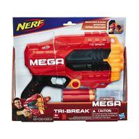 NERF N-STRIKE MEGA TRI BREAK OPEN BLASTER TOY GUN - shoots 90 feet HASBRO AUS