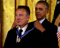 Bruce Springsteen Autographed 16x20 Medal Of Freedom Photo RACC TS UACC RD AFTAL