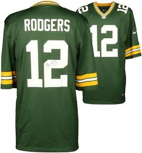 Aaron Rodgers Green Bay Packers Autographed Nike Green Game Jersey