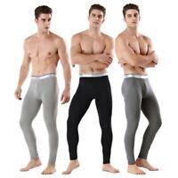 Mens Long Johns Thermal Underwear Thick Warm Bottom Pants Winter Pajamas Home