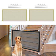 2x Folding Stairs Pet Gates Baby Gate Dog Enclosure Mesh to Play and Rest