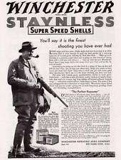 1934 Vintage ad Winchester Staynless Super Speed Shells Waterfowl Hunter Photo