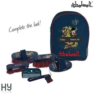 Thelwell Complete Grooming Kit Rucksack by Hy Equestrian – Six Grooming Items