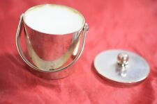 "2"" Silver Plate Bucket with Lid, Holding Candle"