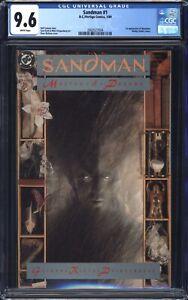 Sandman # 1 (1989) CGC 9.6 White pages - 1st Morpheus - Vertigo Neil Gaiman
