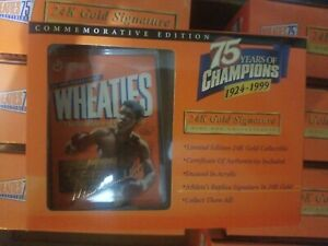 Wheaties 75th Collectibles Muhammad Ali 24K Gold Signature Brand New In Box