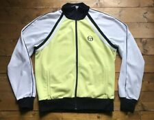 Vintage Sergio Tacchini tracksuit top. 1980s Made In Italy. Lemon. Size: L Adult