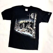 Stand Out Designs Vintage 1993 Gardner Hidden Wolves Graphic T Shirt Men's L