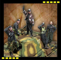 P&P 1/35 Scale German Panther Tank Crew WW2 Resin Model Kit WWII (5 Figures)