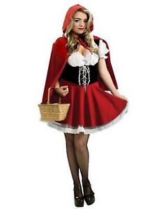 Women Book Day Little Red Riding Hood Cape Party Fancy Dress Adult Costume UK