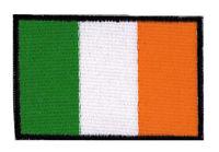 Patch écusson patche drapeau IRLANDE EIRE 70 x 45 mm brodé à coudre