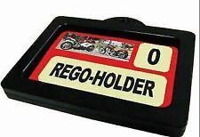 Autotecnica Rego Label Holder Motorbike Boats Caravans Trailers Anodized Black