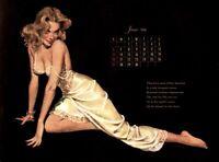 Pinup Calendar 1954 Vintage Esquire Girl Deluxe Ed. E. Chiraka June EX/NM COA