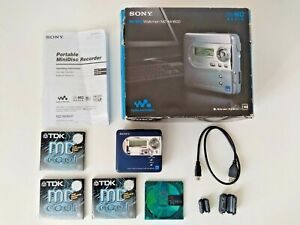 Sony MZ-NH600 NET Hi-MD MiniDisc Walkman Player Recorder boxed with minidiscs
