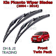 "(04-16) Kia Picanto Front Wiper Blades Windscreen 22""16"" Hook Type Wipers"