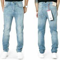 Frankie Morello Herren Slim Fit Jeans | tiefer Schritt | UVP*285€ |W30 / W31